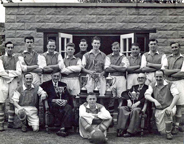 Wilf Lincoln and Youlgrave football team from 1950s