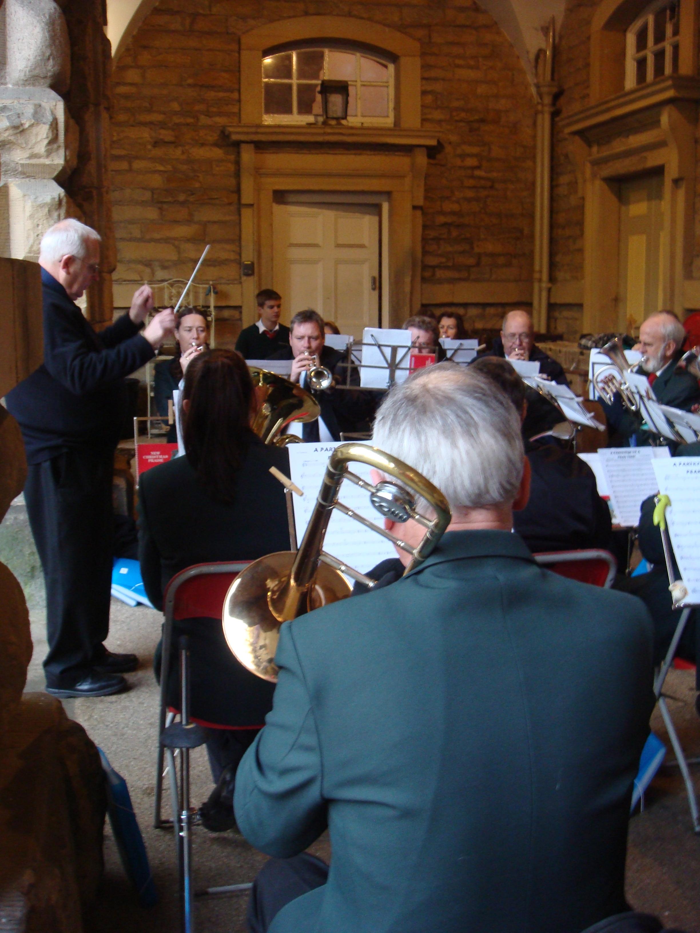 Playing at Chatsworth Stables at Christmas