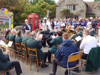 Playing at Youlgrave Welldressing Service