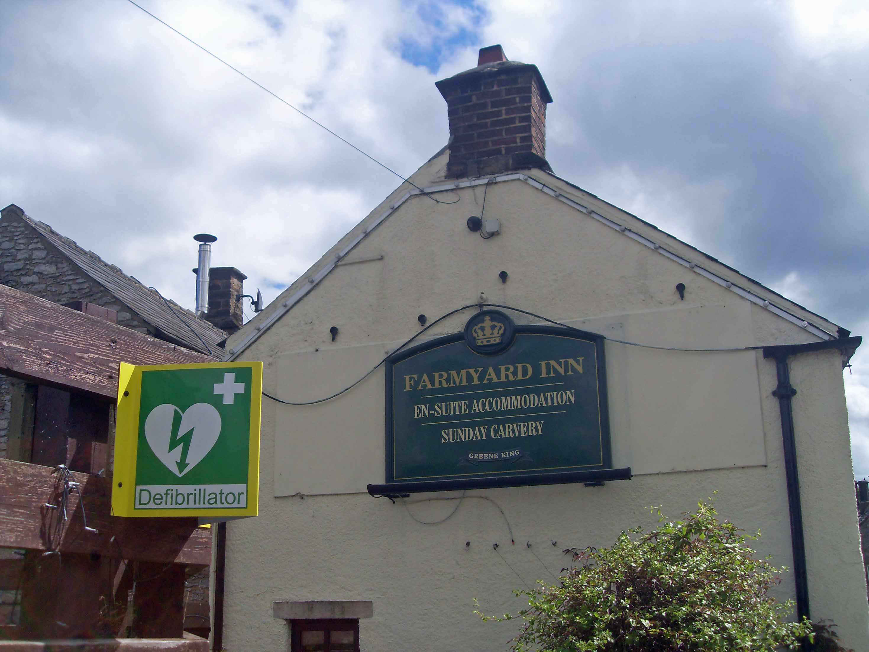 Farmyard Inn defibrillator