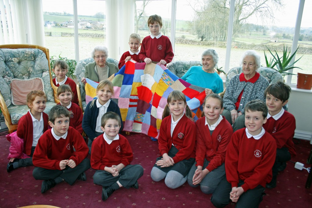 All Saints School blanket for Granby House 1