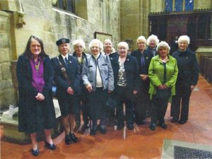 Mrs Angela Swift (left) and members of the Youlgrave Branch of the RBL Women's Section